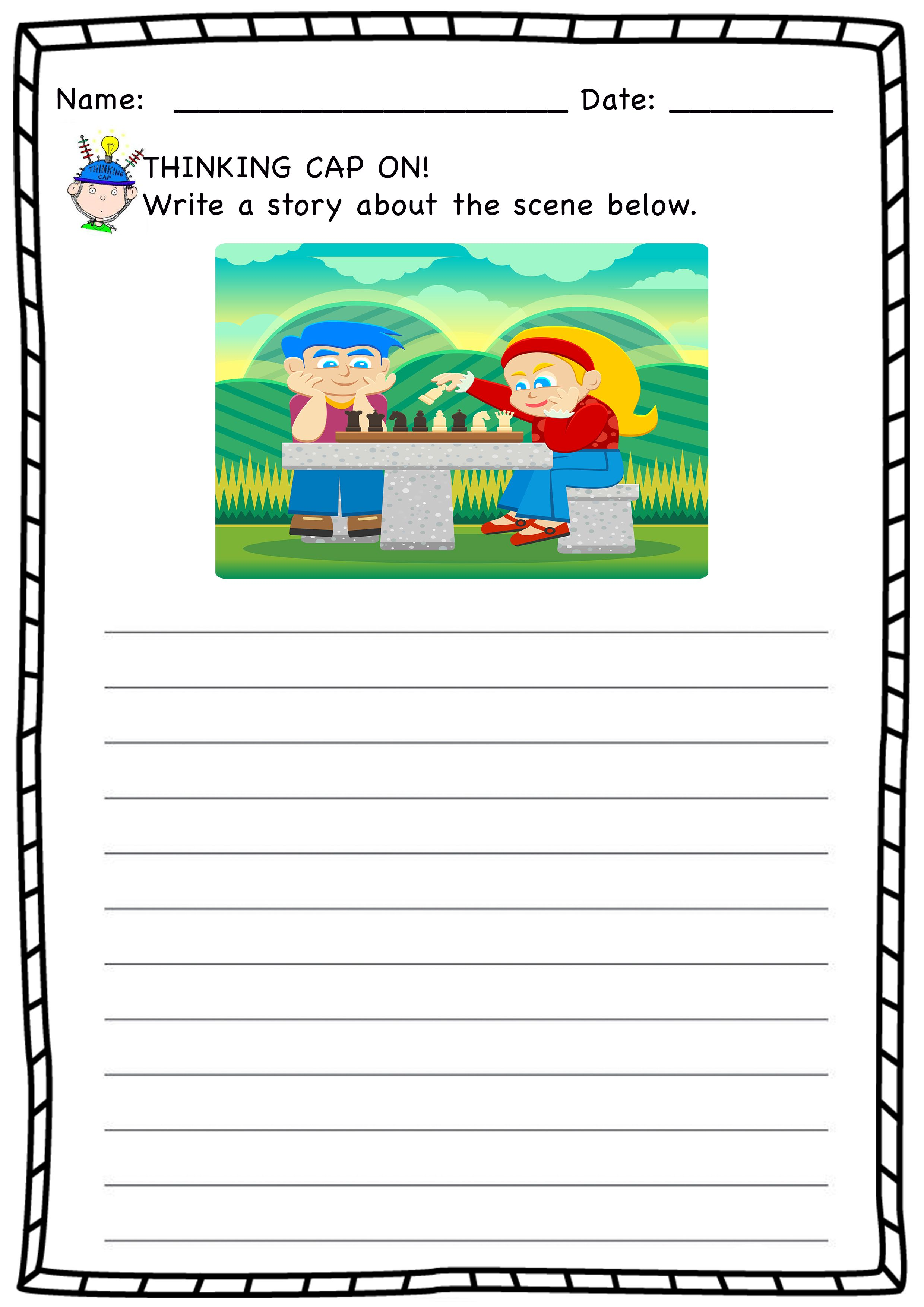 medium resolution of Composition Worksheets   Creative writing