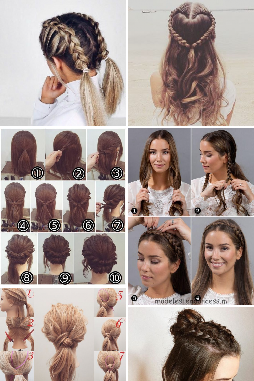 15 The Most Beautiful Easy Hairstyles Updo Ideas Easy Hairstyles Easy Hair Updos Short Hair Styles Easy