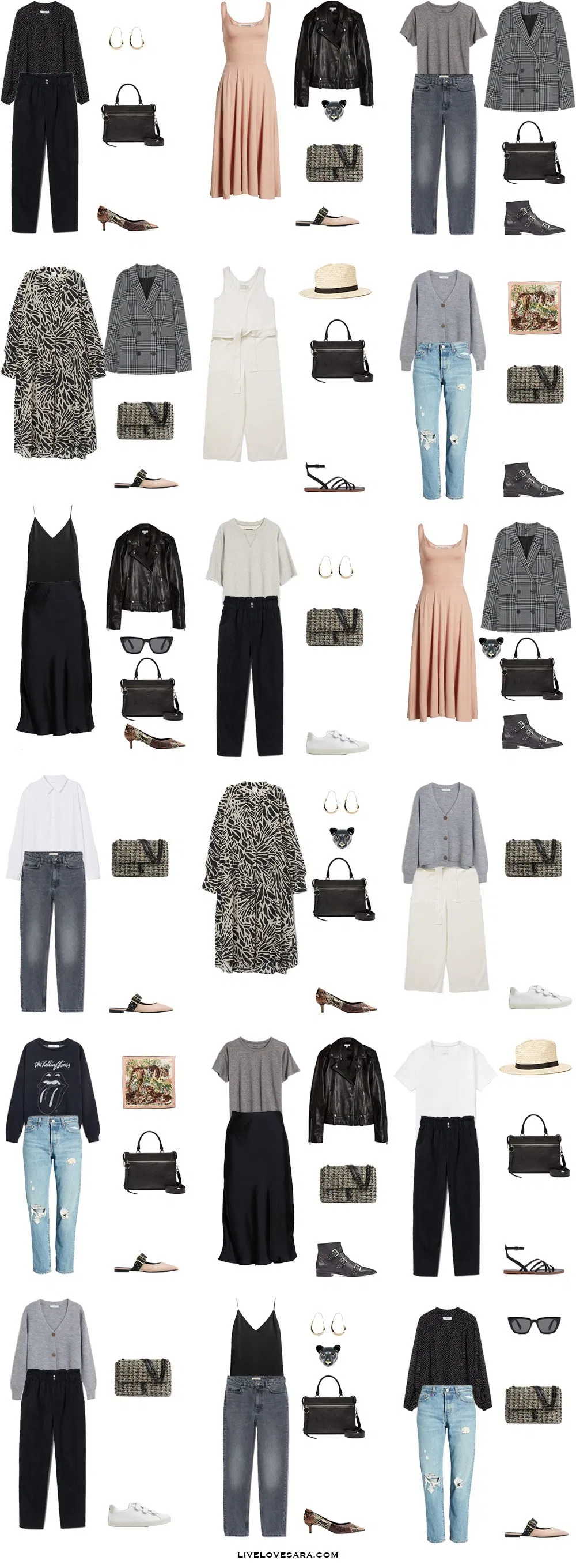 How to Build an Edgy Capsule Wardrobe for Spring and Summer | Edgy Outfit Ideas