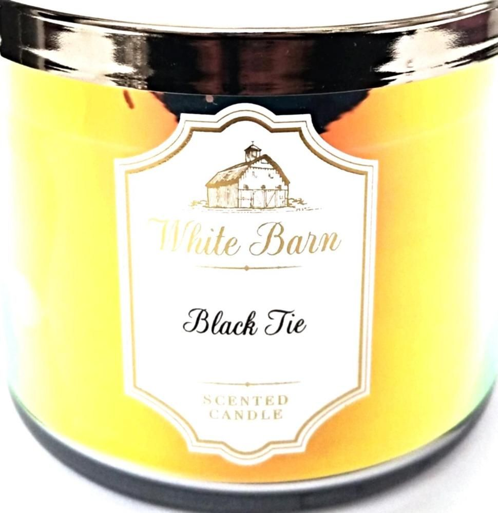 Bath /& Body Works White Barn BLACK TIE 3-Wick Candles scented candle 14.5 oz