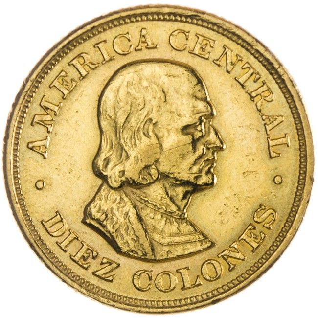 Costa Rica 10 Colones 1899 Gold Gold And Silver Coins Gold Coins Silver Coins