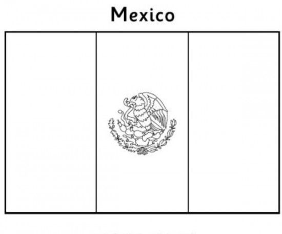 Mexican Flag Coloring Pages Picture 4 Mexico Flag Mexican Flags
