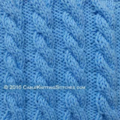 Cable Knitting Stitches Basic Cable Knitting 33 Left Cross