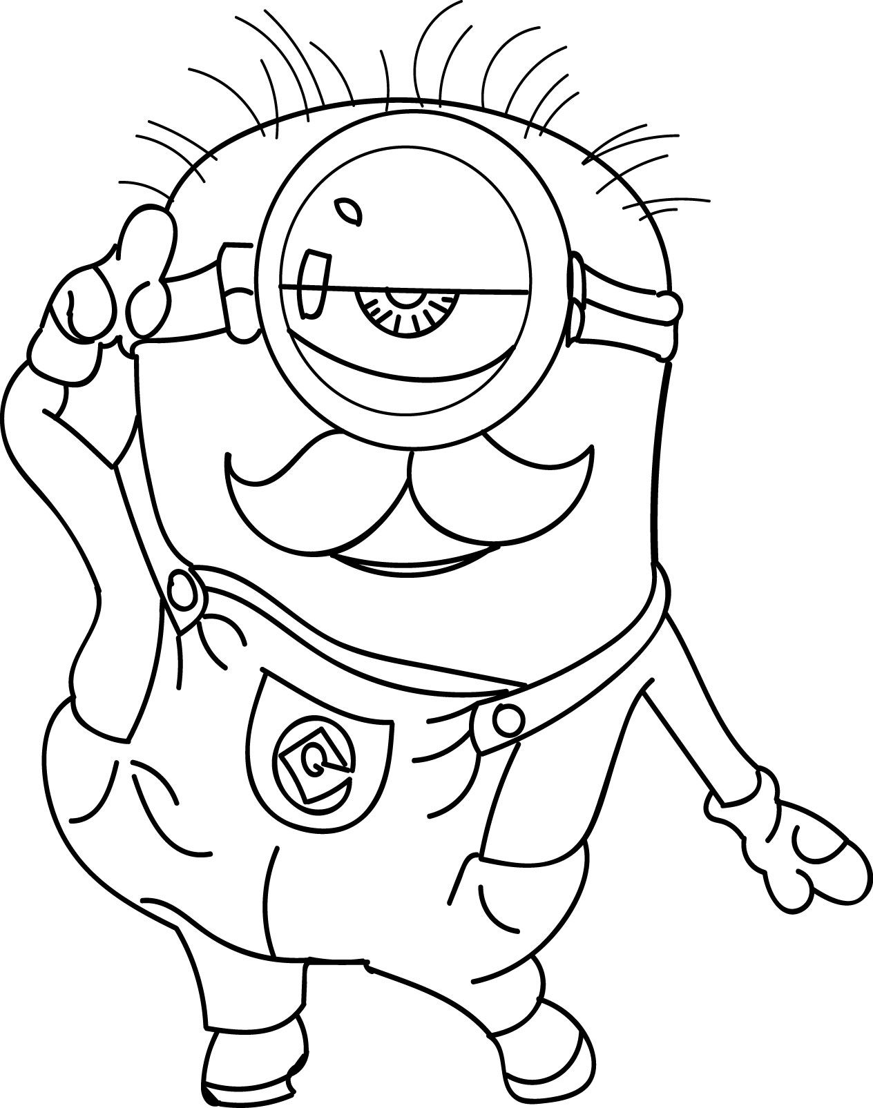 Cool Minion Show Coloring Page