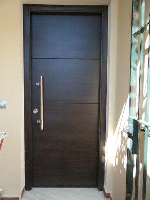 Modern front door   Puerta de entrada moderna Portas Pinterest - puertas de entrada