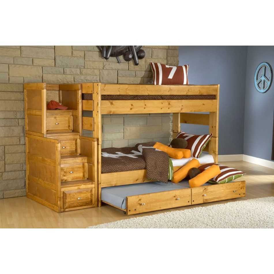 Best Trendwood Inc Visions Bunk Bed Trundle With Mattress 400 x 300