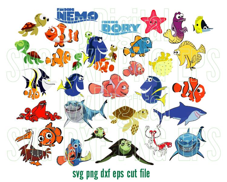 Pin By Barbie Appelhanz On Nemo In 2020 Finding Nemo Disney Finding Dory Digital Svg