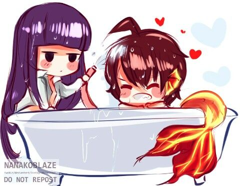 Aww Rokuro it's a mermaid?! Sousei no onmyouji   Adashino Benio   Ennadou Rokuro