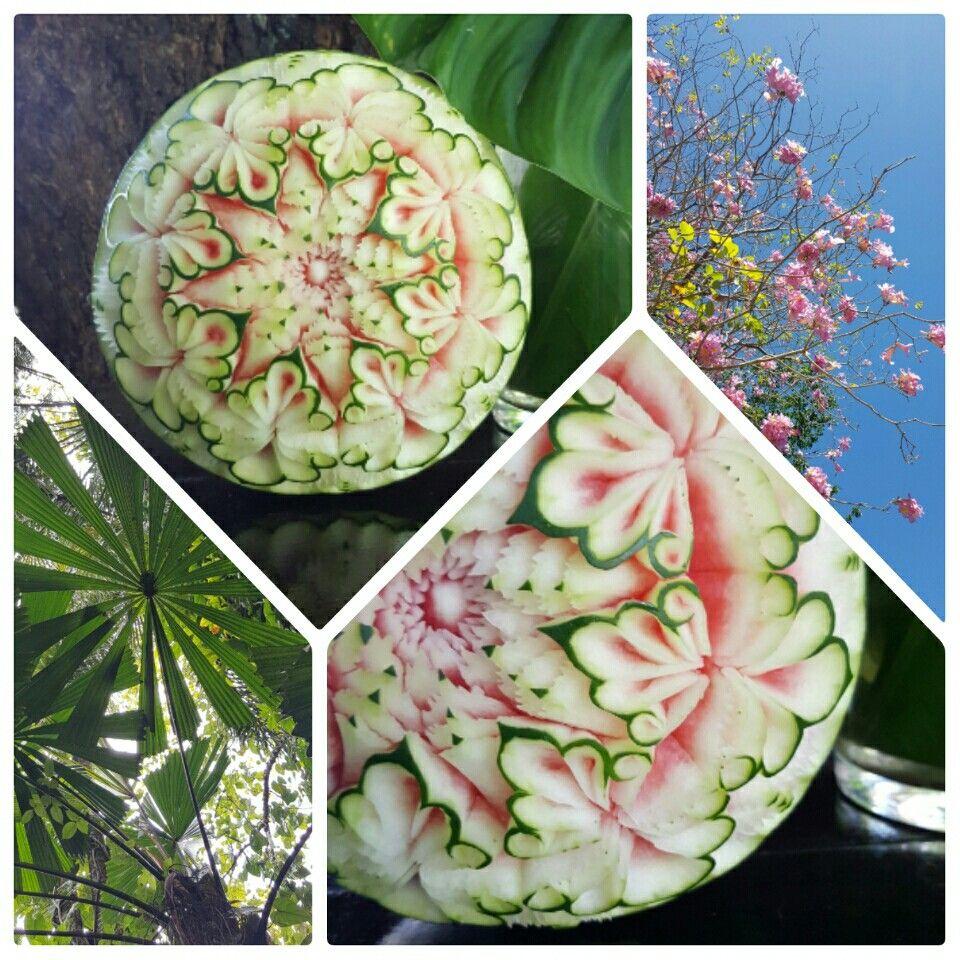 Watermelon carving at taste wine u food festival port douglas