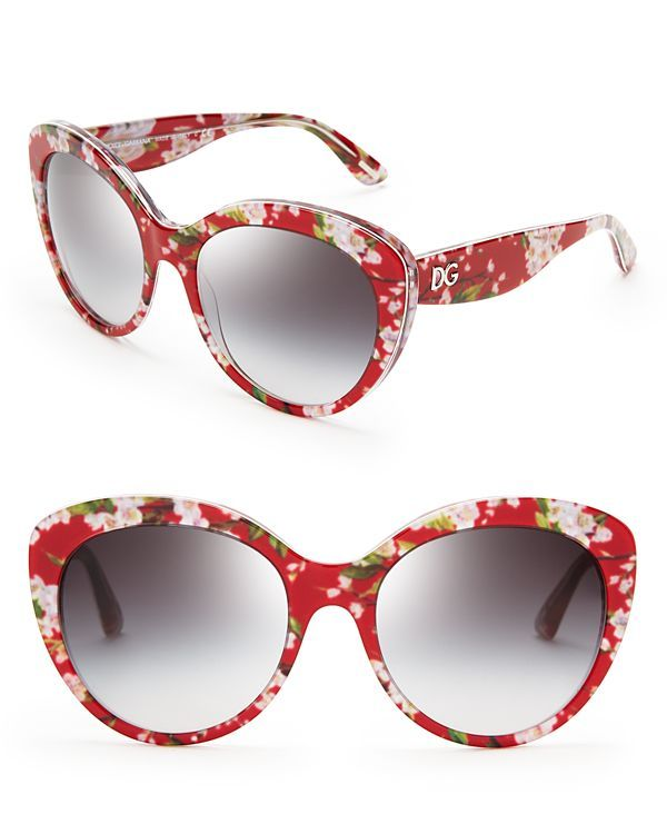 b46676c69ac59 Dolce Gabbana Floral Cat Eye Sunglasses