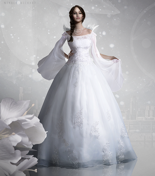 katniss' wedding dress.   hunger games   pinterest   juegos del
