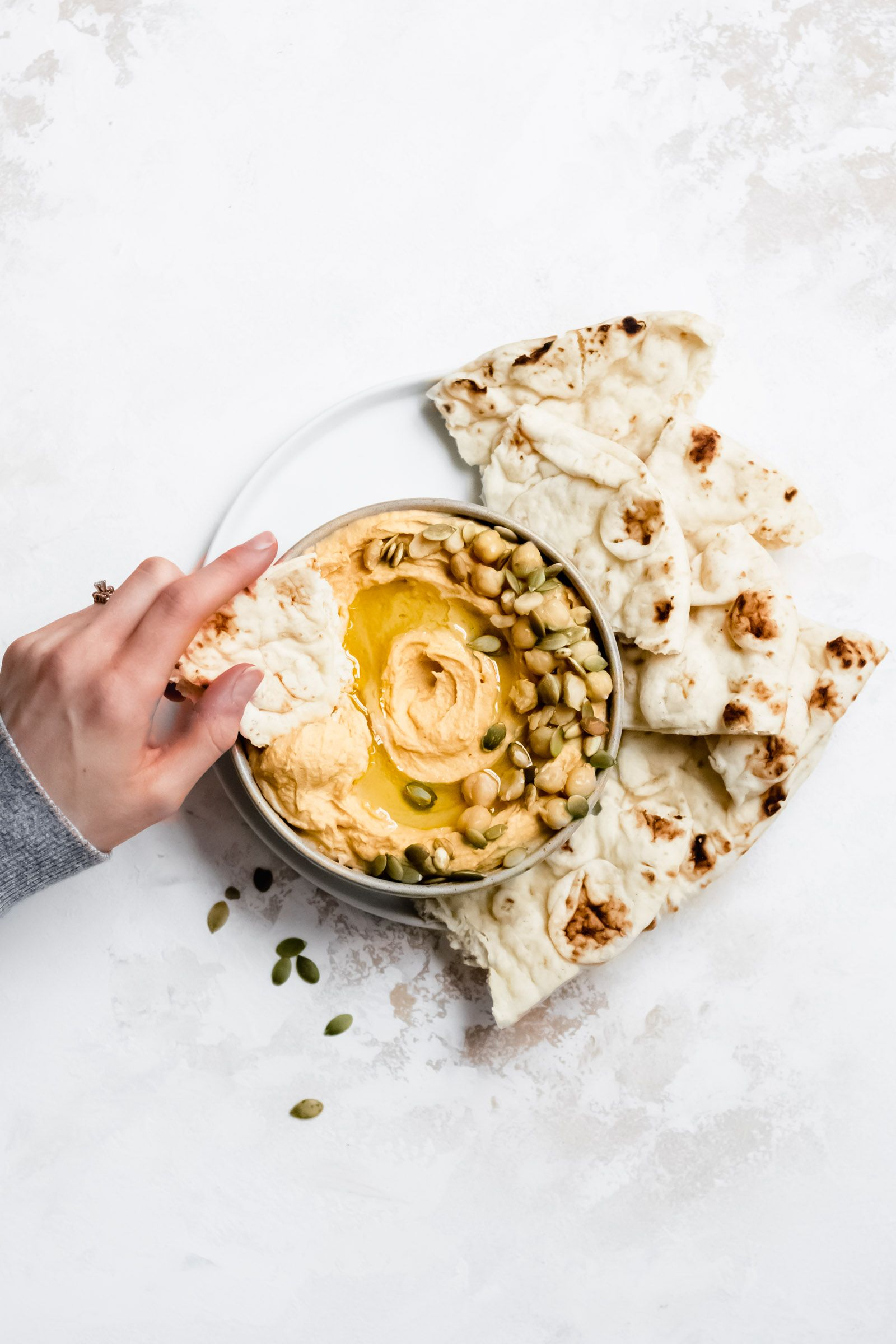 Creamy Roasted Butternut Squash Hummus Vegan GF  Well Fed Soul Roasted Butternut Squash Hummus is exceptionally creamy Youll love this fall inspired hummus made with roas...