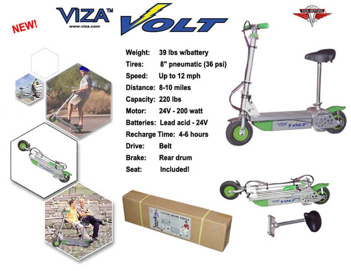 Viza Volt Electric Scooter Best Prices And Free Shipping