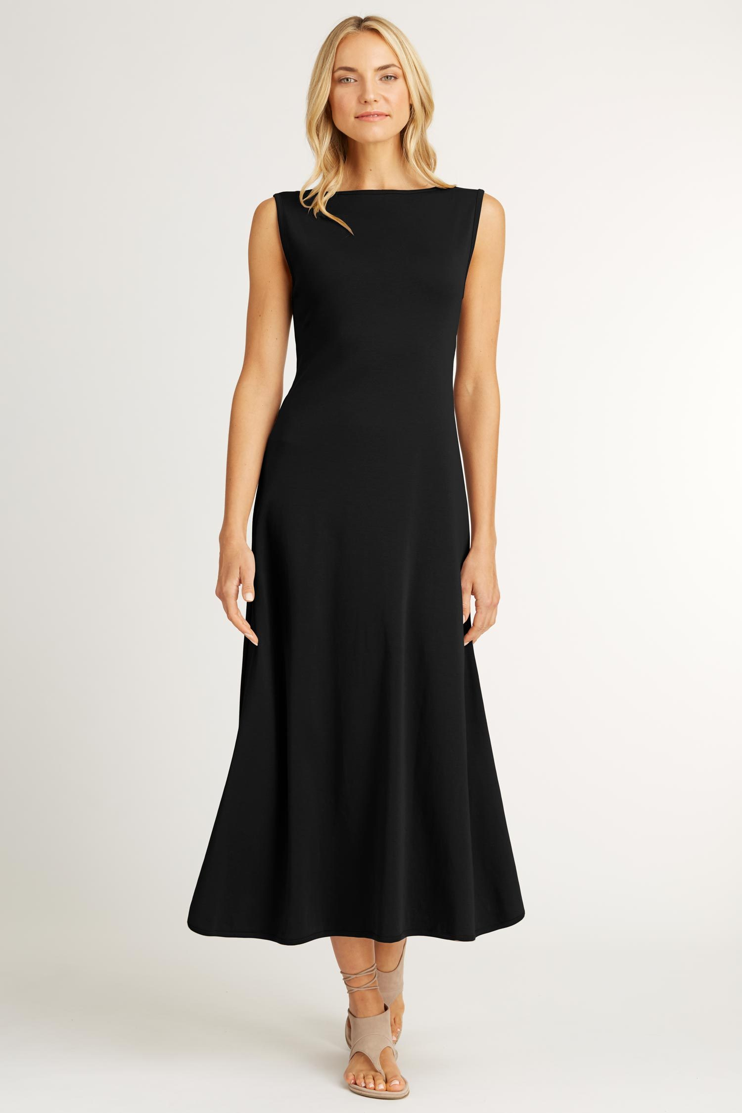e7e90568ac96 Womens Boatneck Maxi Dress