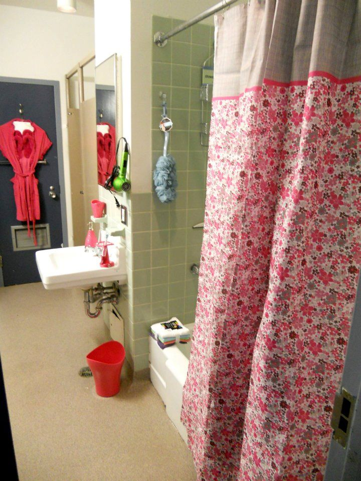 Typical Dorm Room: Typical Traditional Style Residences Share A Washroom With