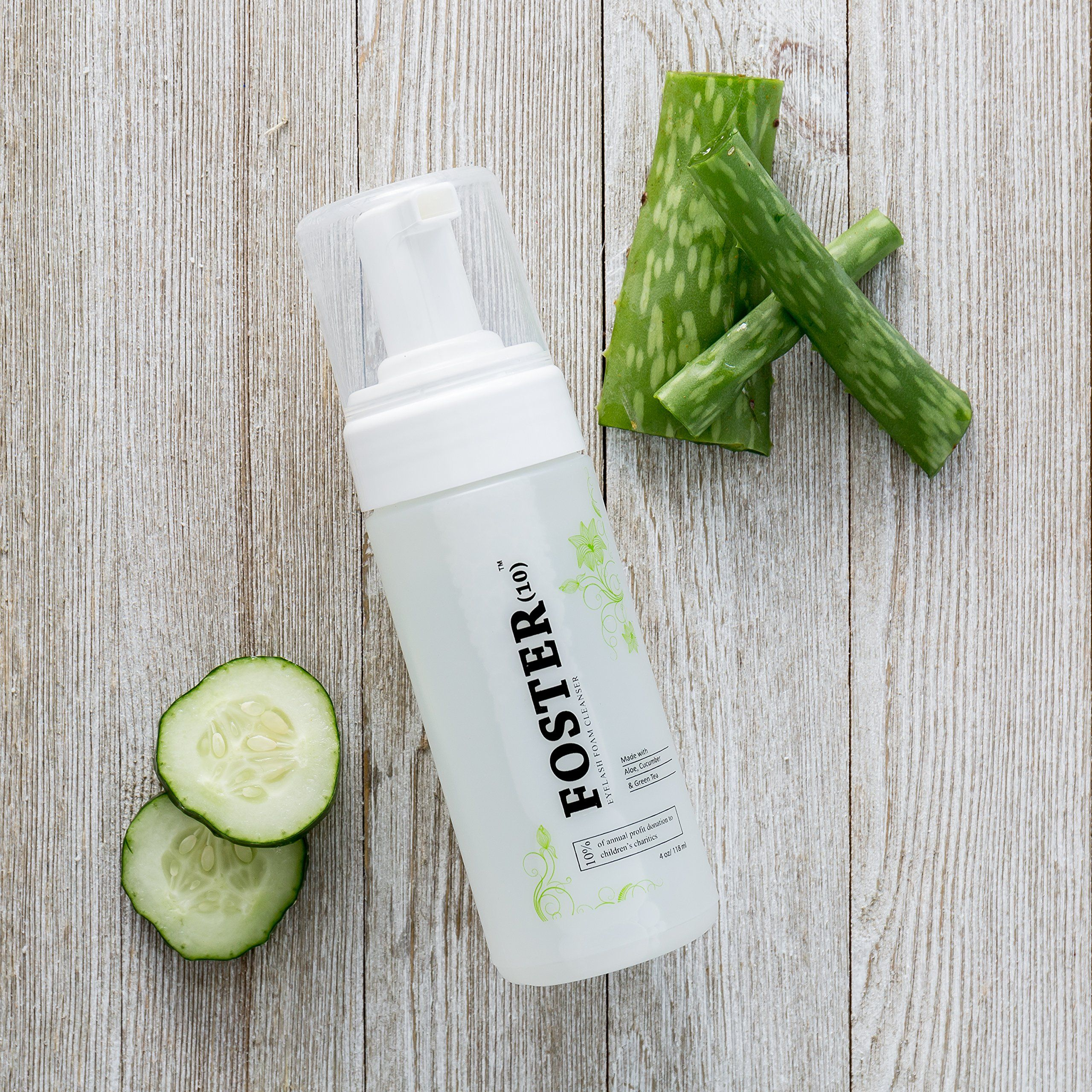 Foster10 eyelash extension cleanser foaming safe for daily