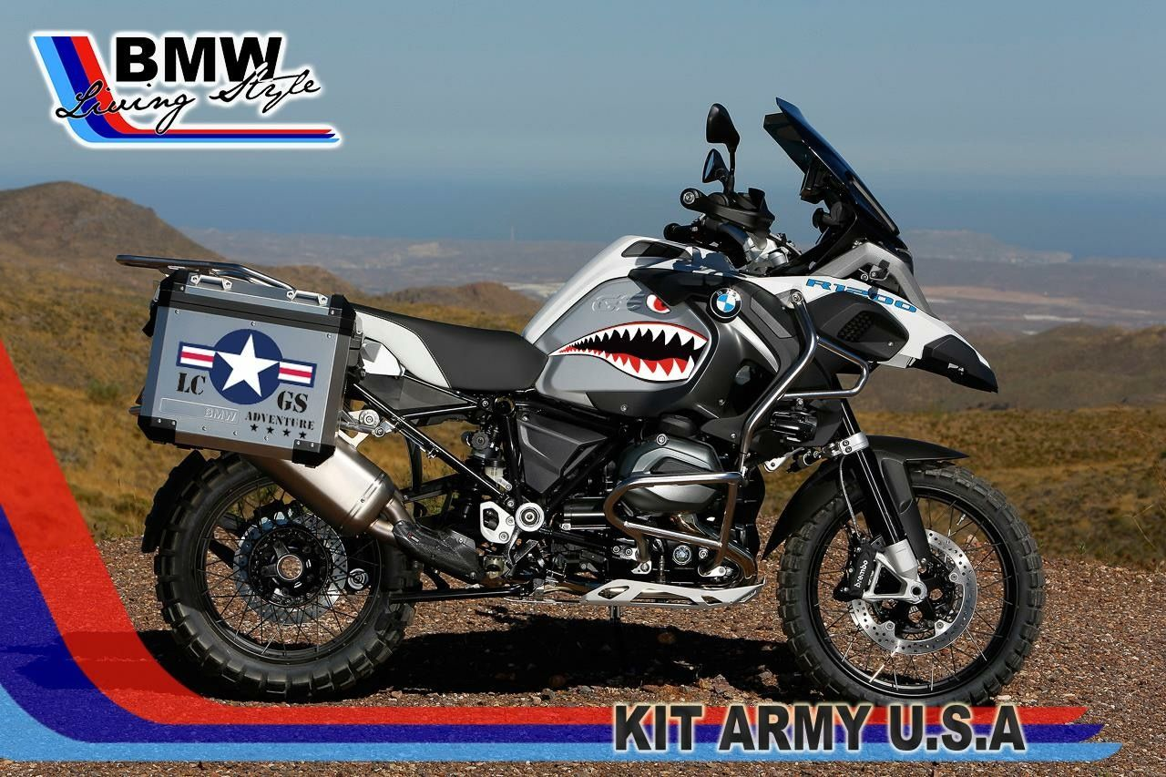 GS ADVENTURE Style Stickers USA Army Kit Adesivi Per Case E - Bmw motorcycle custom stickers decals