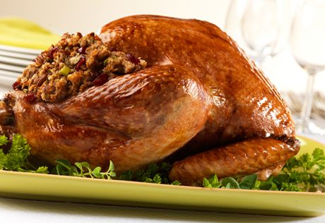 Holiday Turkey With Cranberry Pecan Stuffing Recipe Thanksgiving