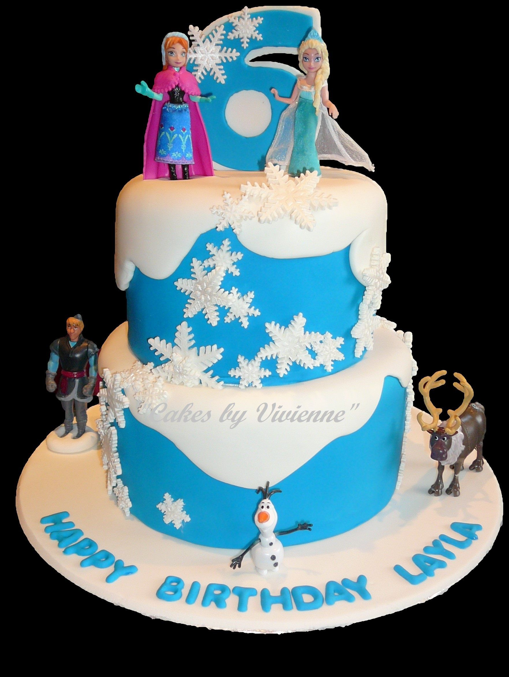 Frozen themed birthday cake for a 6 year old Cake Ideas