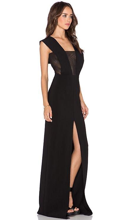 SOLACE London Inka Maxi Dress in Black   REVOLVE