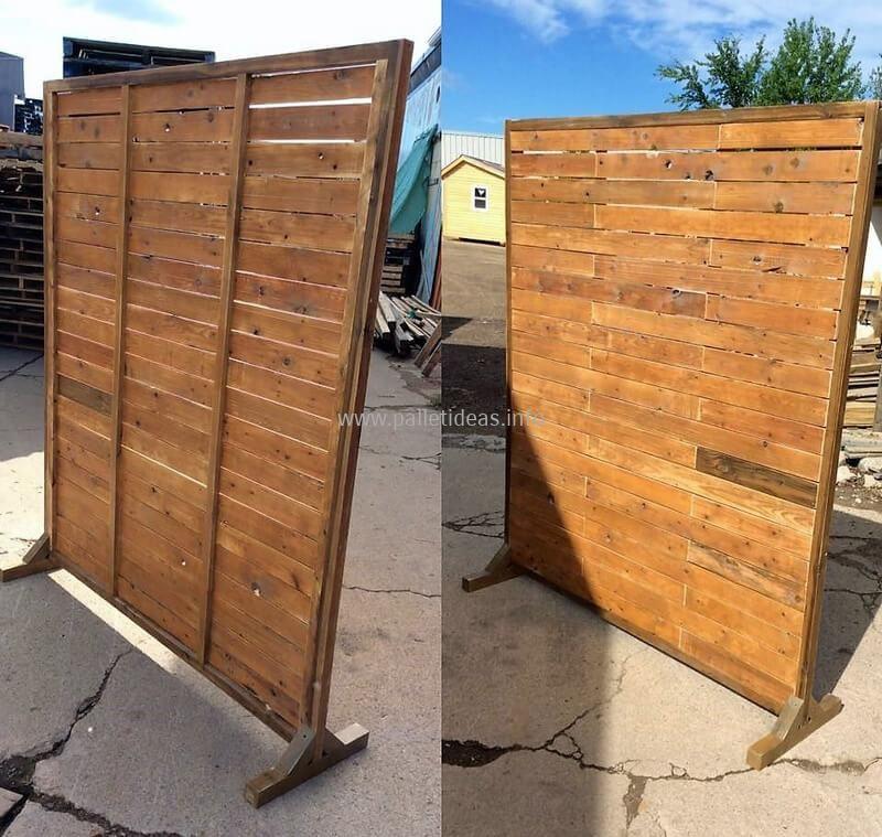 wooden pallet space divider wooden pallet space