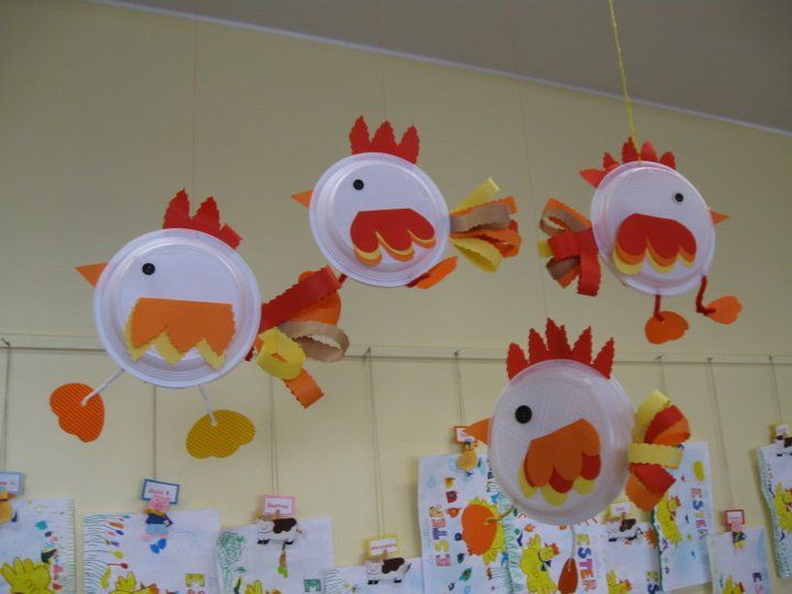 Paper plate chicken craft crafts and worksheets for for Rooster craft for kindergarten