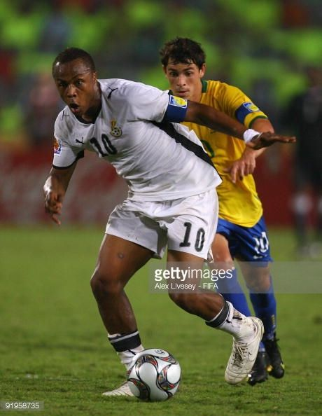 Andre Ayew Of Ghana Beats Giuliano Of Brazil During The Fifa U20 World Cup Final Between Ghana And Brazil At The Cairo Interna Fifa U20 World Cup Cairo Stadium
