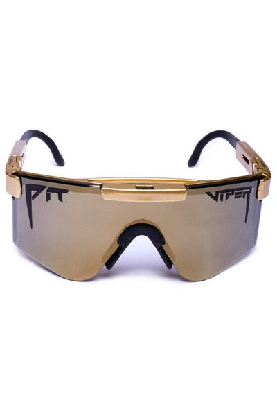 e186c9300a0 Shinesty's 24K Gold Digger Pit Vipers Sunglasses | Get your retro beach  gear and all manner of outrageous threads at Shinesty.com