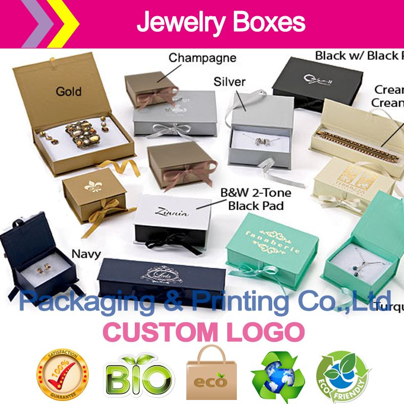 Click to Buy Deluxe Ribbon Jewelry Boxes customized printed