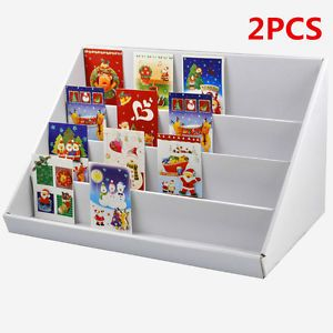 2x white 4 tier collapsible cardboard greeting card display stand 2x white 4 tier collapsible cardboard greeting card display stand display stands m4hsunfo Gallery