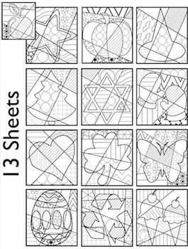Coloring Pages K 2 For All Year Fun For Hanukkah Christmas Winter More Pop Art Colors Coloring Pages Pop Art Patterns