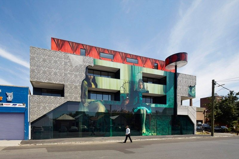 Art edifício coberto