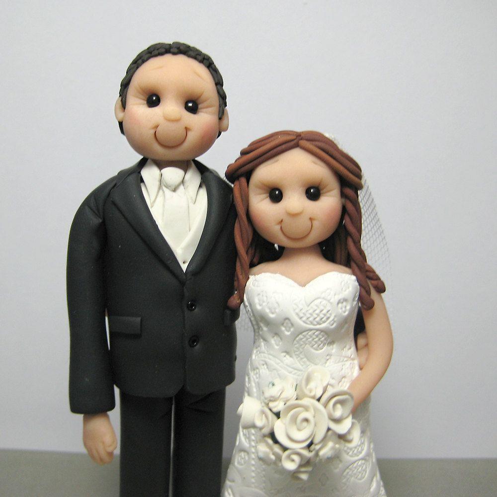 DEPOSIT For Custom Made Polymer Clay Wedding Cake Topper 4000 Via Etsy