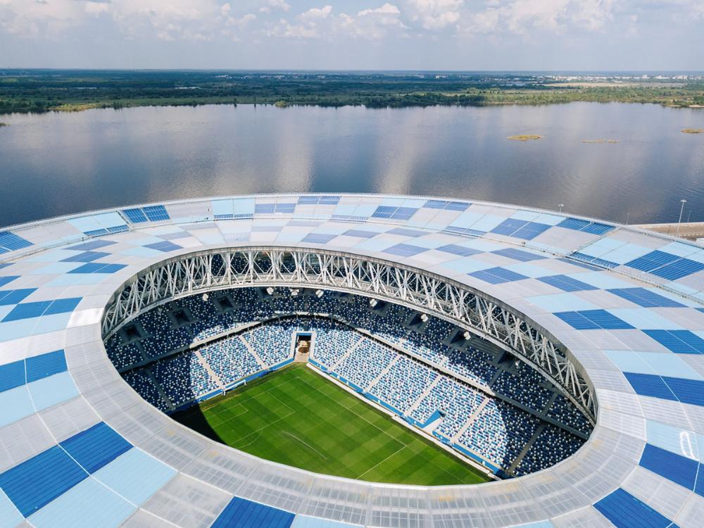 Football Stadium For The Fifa 2018 World Cup Pi Arena Media Photos And Videos 4 Archello In 2020 Football Stadiums Stadium Arena