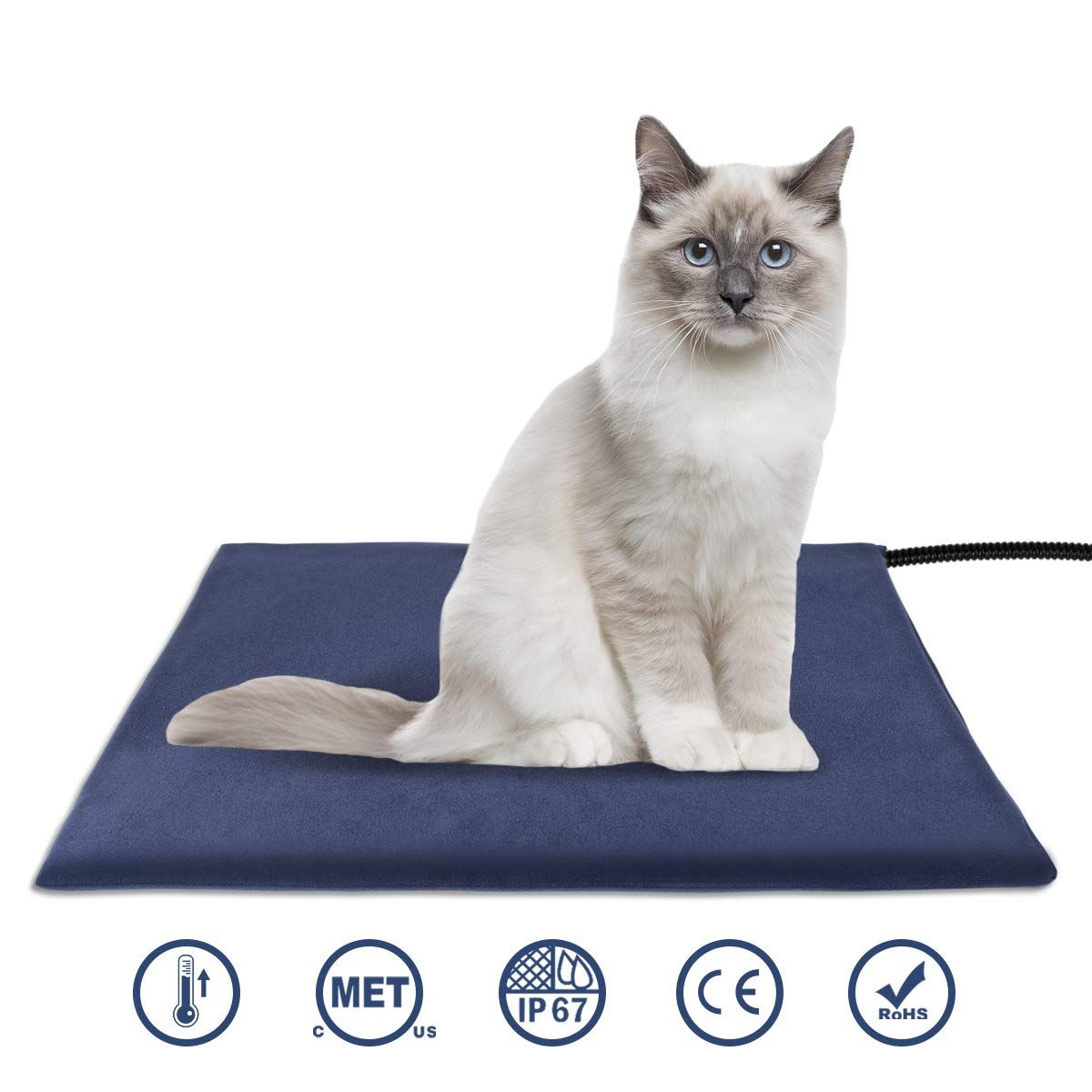 Cat Is A Loving Pet Pet Heating Pad Cat Pet Supplies Heated Pet Beds