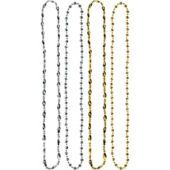 Silver and Gold Hollywood Bead Necklaces - Party City