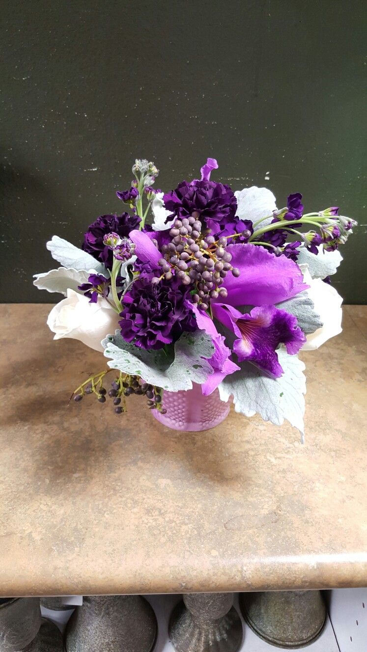 Purple And White Flower Arrangements For Wedding And Events My