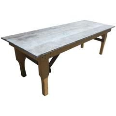 Best Zinc/Tin Top Dining Or Garden Table