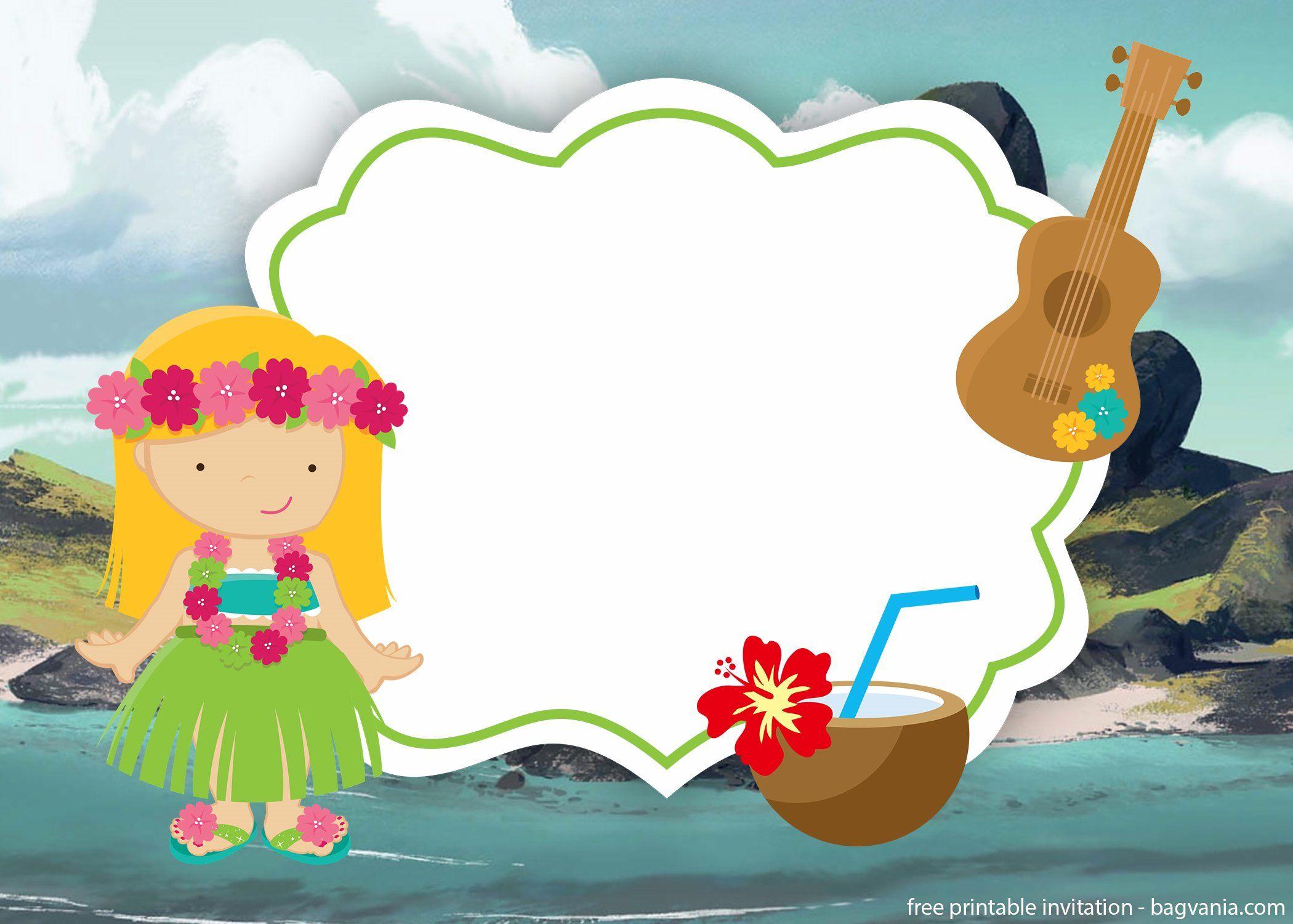 Free printable luau hawaiian invitation template free