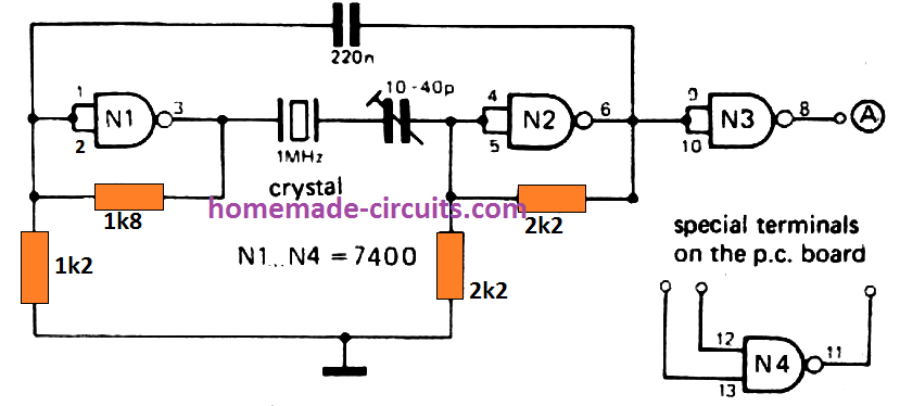 1 Hz To 1 Mhz Frequency Reference Generator Circuit En 2020 Electronique