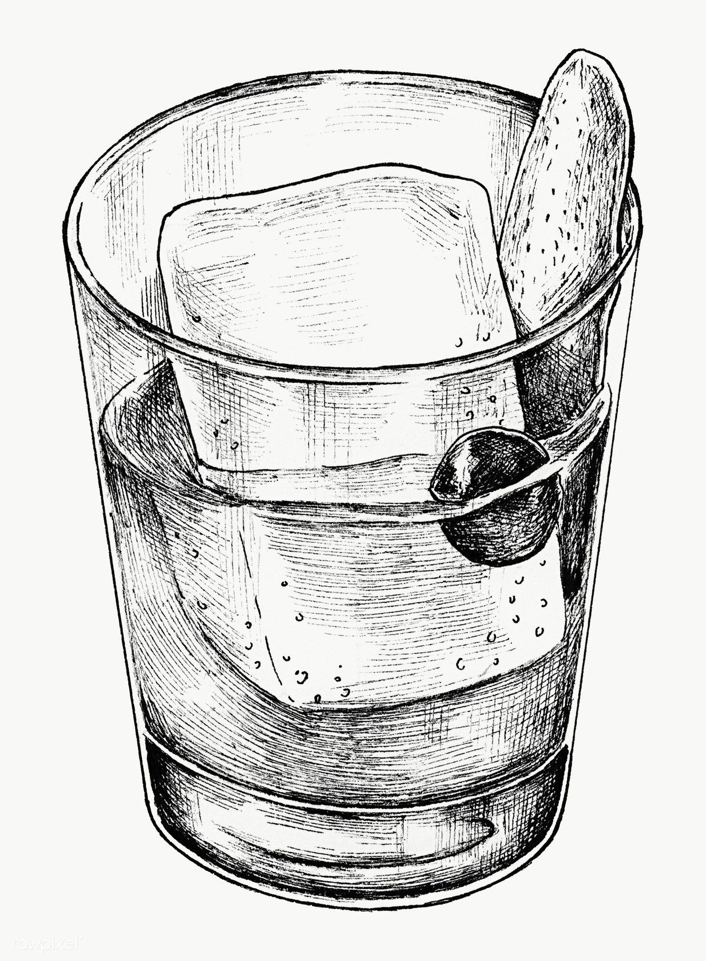 Hand Drawn Cocktail Drink In A Glass Transparent Png Free Image By Rawpixel Com How To Draw Hands Cocktail Illustration Cocktail Drinks