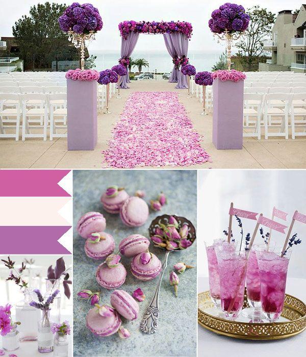 Orchid Pink Wedding Ideas Beach Tulleandchantilly