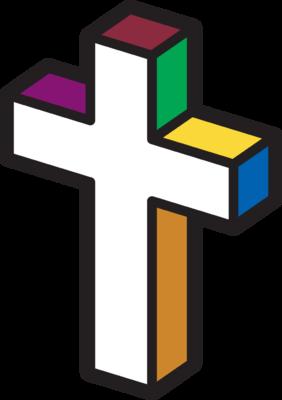 Image: Primary Colored Cross | Cross Image | Christart.com