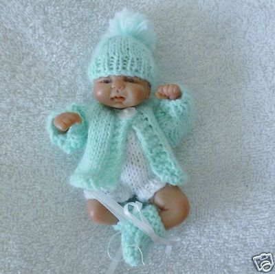 Hand Knitted Dolls Clothes To Fit 45 Ooak Sculpt Baby Dolls