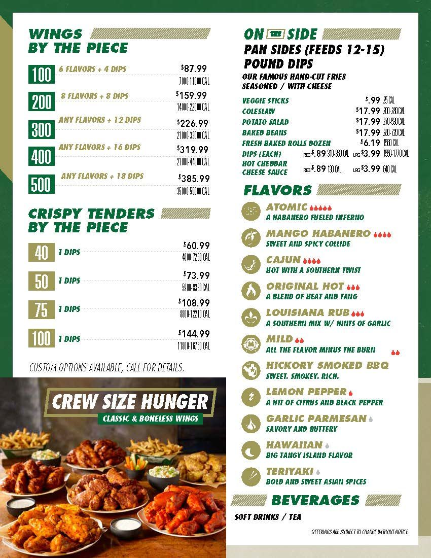 graduation, lunch or any big event. make it wingstop your go to wing