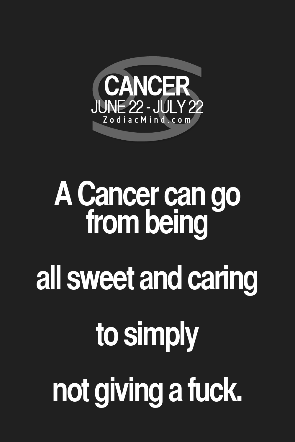 Cancer Zodiac Quotes Oh Yes Don't Muck Me About Or Goodbyejustlikethat  Moon .