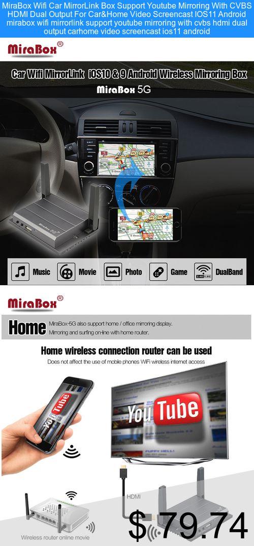 Car Wifi Mirrorlink Box Youtube HDMI Mirroring for IOS Android Phone Car/&Home