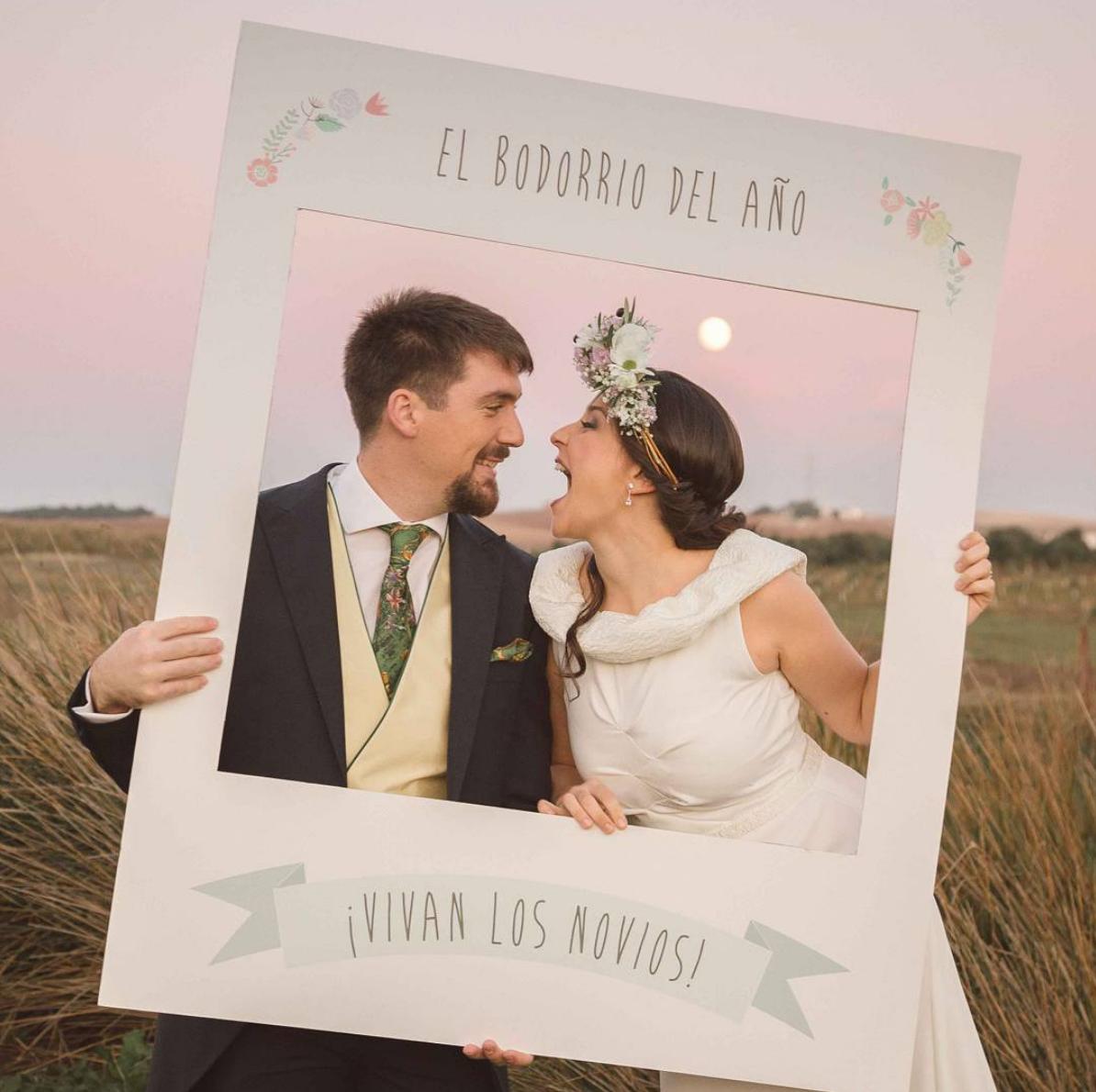 marco polaroid para photocall boda creado por