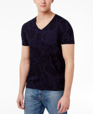 TOMMY HILFIGER Tommy Hilfiger Men'S Pocket Palm Print T-Shirt . #tommyhilfiger #cloth #shirts