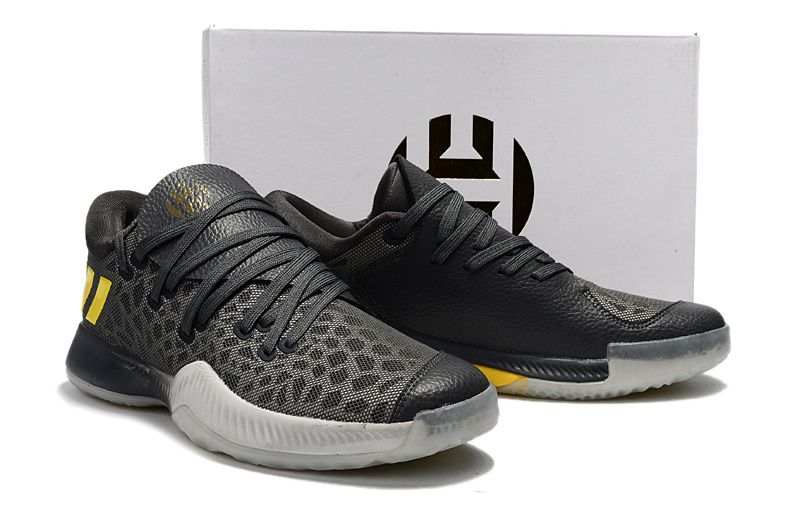 adidas Harden 2 B E Camo Grey Black Yellow James Harden Shoes 2017